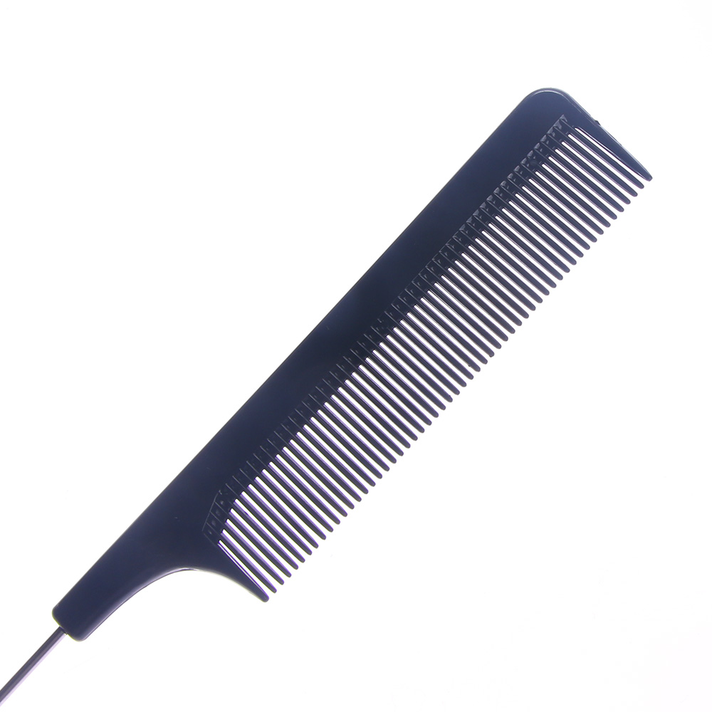 Image 4 - Hot Sale Fine tooth Metal Pin Hairdressing Hair Styling Rat Tail Comb Black Plastic Fine tooth Hair Comb Beauty Tools New-in Combs from Beauty & Health