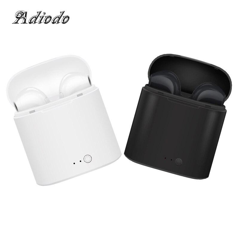Neue Doppel i7s TWS drahtlose Kopfhörer bluetooth Headsets Ohrhörer drahtlose Kopfhörer Kopfhörer Ohrhörer für apple iphone Android