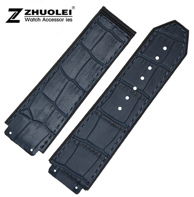 Watch band 25*19mm New Men's watch Dark Blue Waterproof Rubber Watch Strap Band Bracelets Free Shipping napapijri guji check dark blue