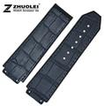 Watch band 25*19mm New Men's watch Dark Blue Waterproof Rubber Watch Strap Band Bracelets Free Shipping