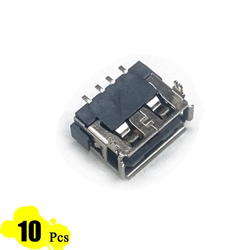 10Pcs Lot Type A 10 13 Female USB 4 Pin Plug Socket Jack Connector Plug Socket