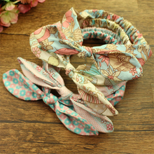 12pcs lot Newborn Baby Rabbit Ear Hairbands Cotton Knot Flower Elastic Headbands Kids Children Headwrap Girls