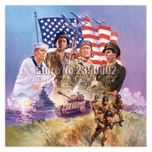 The Armed Forces 5D DIY Diamond Painting Patriotic Military Full Drill 3D Embroidery Cross Stitch Mosaic Rhinestone Decor united states military armed forces full size ribbon us merchant marine expeditionary