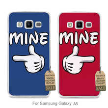 lovely Plastic Hard couple phone Accessories Case For case GALAXY A5 He is mine She is mine Lover gift (2)