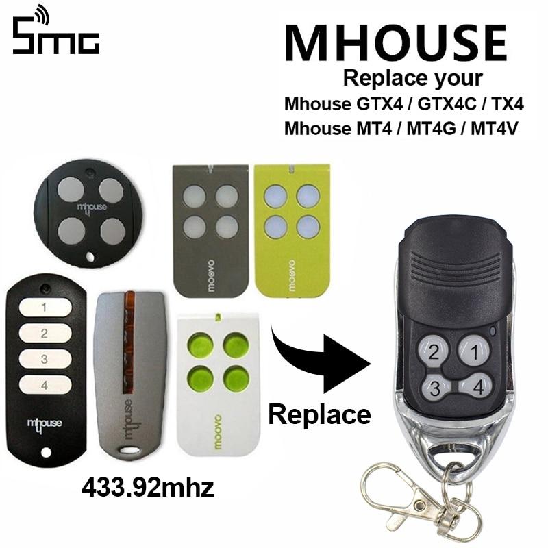 Portable Garage Door Gate Remote Control Key 433 92mhz 4b