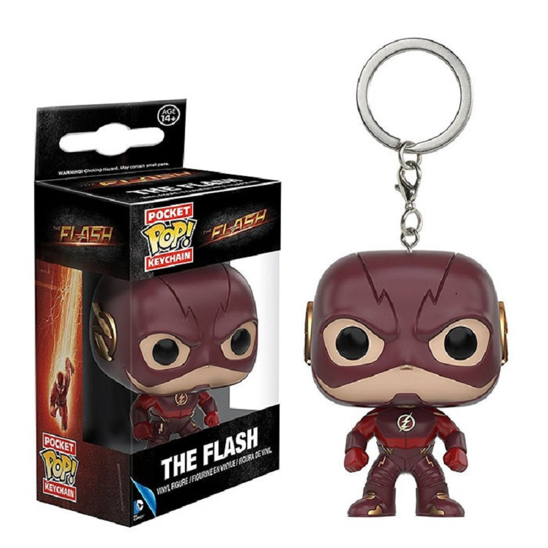 Pocket Pop Keychain Official DC Comics The Flash Q Model Bobble Head Collectible Action Figure Toys For Children Christmas Gift image