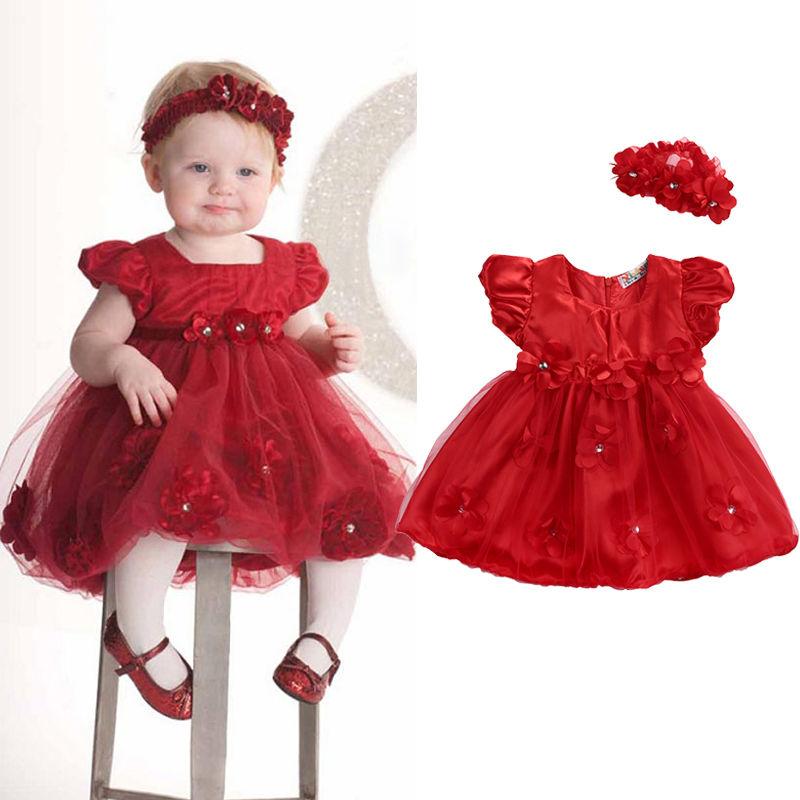 Girls Princess Dress Toddler Baby Wedding Party Baby Girls Dresses ...