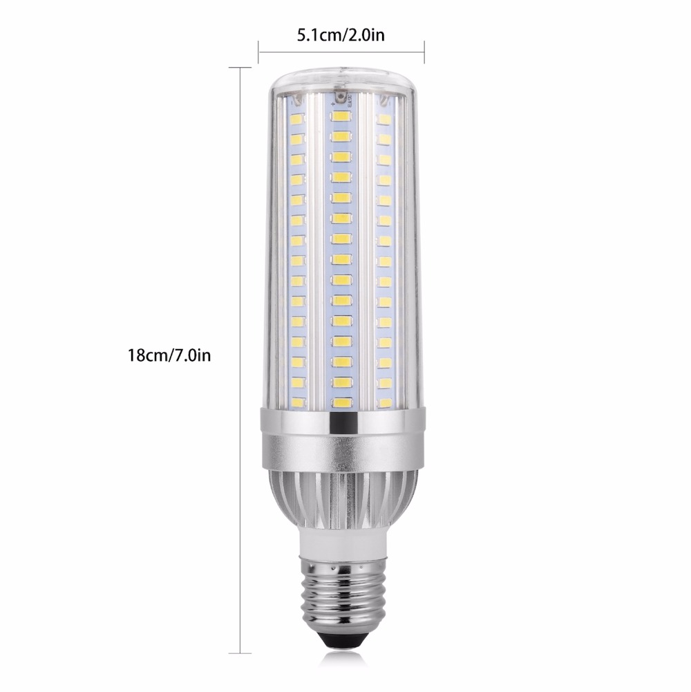 E27 220V High Power Corn lamp LED Bulb E26 110V SMD5730 25W 35W 45W Aluminium lights With Smart IC Driver Radiator Lighting lole капри lsw1349 lively capris xs blue corn