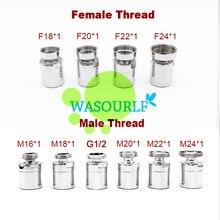 WASOURLF Регулируемый 360 латунный водосберегающий кран аэратор M22 адаптер с наружной резьбой M24 M20 M18 M16 1/2 аксессуары для кухонного крана