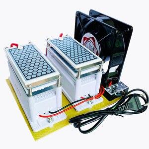 Image 4 - 220V/110V 20g 10G güçlü Ozonizer seramik ozon jeneratörü ozon ozonator çift entegre seramik tabak Ozonizer hava temizleyici