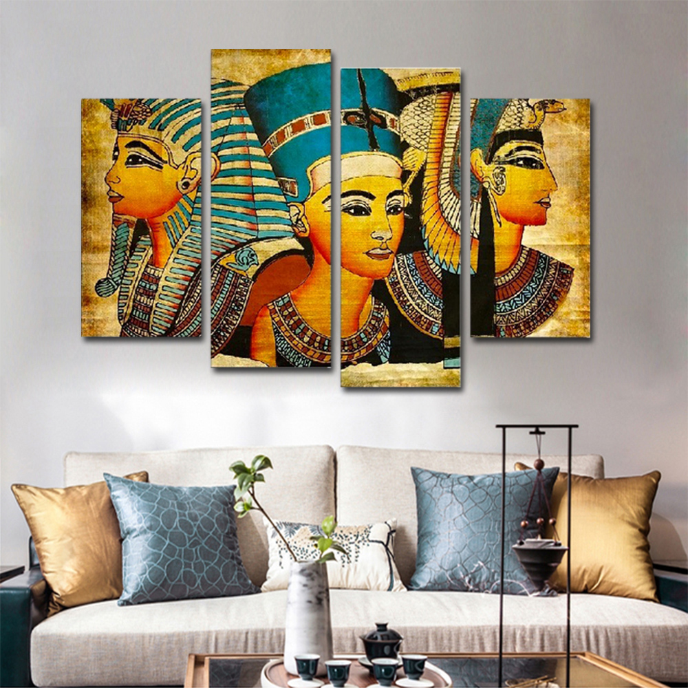 Unframed 4 HD Canvas Prints Religious Figures Depict Pictures Living Room Decoration Mural Module Art Spray Painting
