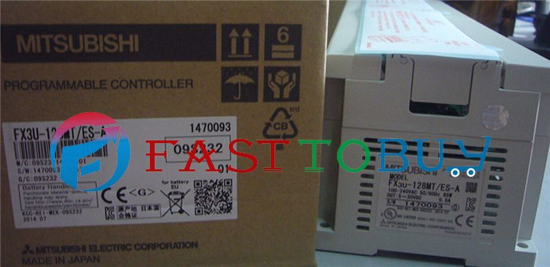 NEW FX3U-128MT-ES-A PLC 100-240V AC 64DI 64DO Transistor with Programing Cable Original One Year Warranty  цены