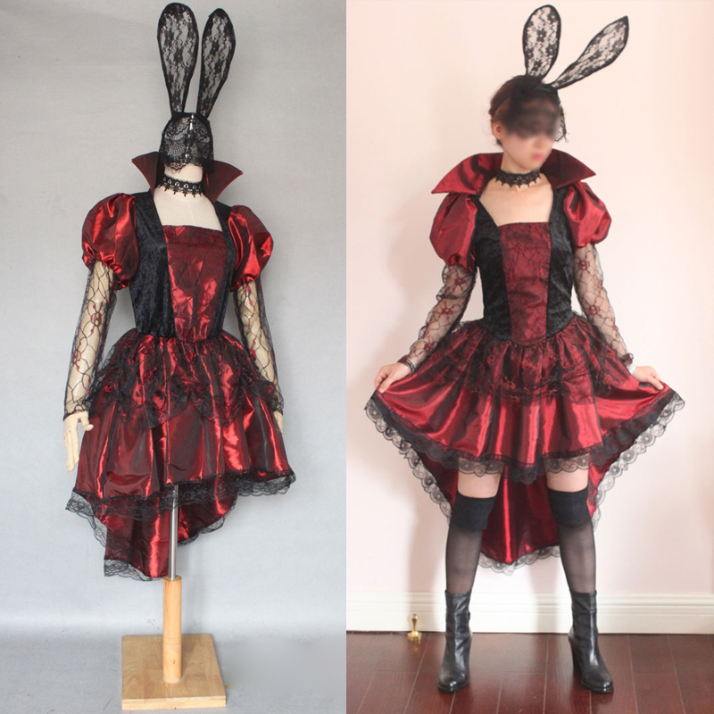 Gothic Lolita Girl Cosplay Dress for Halloween Birthday Party Vampire Witch Princess Dress for Little Girl Kids Fancy Dress girl
