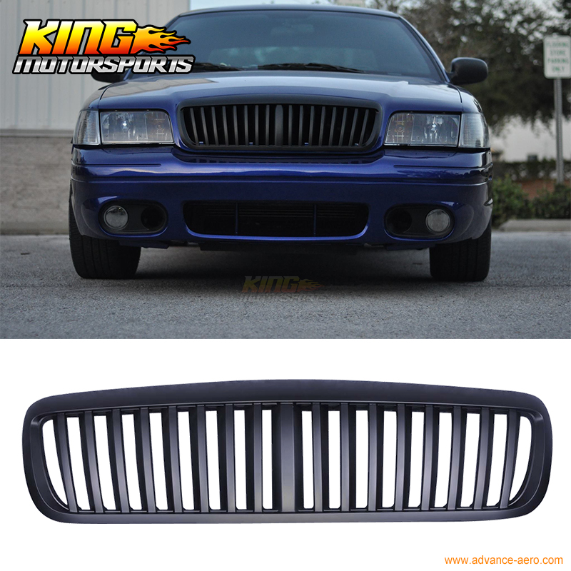 For 1998-2011 Ford Crown Victoria Black Hood Grill Vertical Front Hood Grille USA Domestic Free Shipping Hot Selling for 2004 2008 ford f150 chrome vertical front hood grill grille usa domestic free shipping hot selling