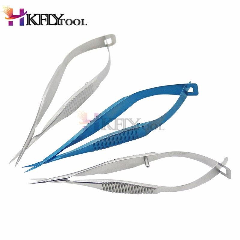 Ножницы из титанового сплава для офтальмологической микрохирургии из нержавеющей стали для экспериментов с животными 8,5 см ножницы Венеры хирургические инструменты