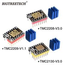 BIGTREETECH TMC2208 V3.0 TMC2209 UART TMC2130 SPI Stepper Motor Driver Stepstick Mute For SKR V1.3 Pro MKS 3D Motherboard