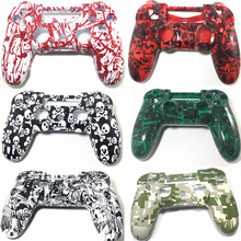 DIY Replacement Custom Housing Shell Front and Black Upper Replace Case Cover Skin For Sony Playstation 4 PS4 Controller Gamepad