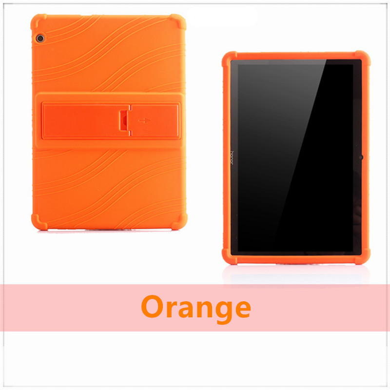 Silicone Stand Protect Shell For Huawei Mediapad T5 10 AGS2-W09/L09/L03/W19 Soft Case For Huawei Honor Pad 5 Tablet PC Cover+Pen