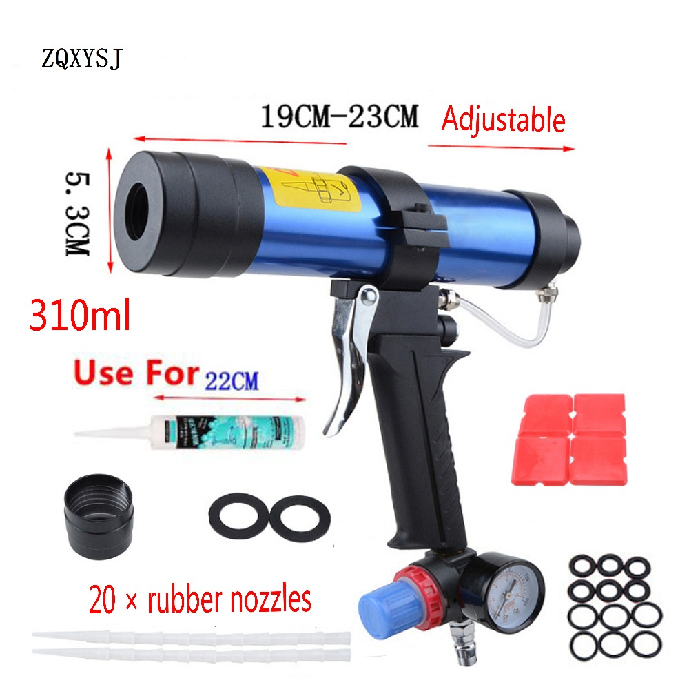 ZQXYSJ 310ml Caulking Gun 1pc Paint&decorating Cartridge Gun Pneumatic Glass Glue Air Rubber Guns Tools Sealant Finishing Tools