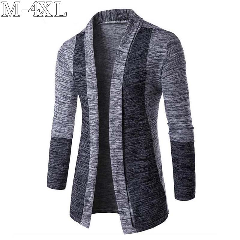 2019 Spring New Sweater Men Long Sleeve Patchwork Thin Knitted Cardigan Men High Quality Casual Men Sweaters Slim Knitwear Coat