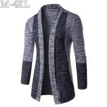 2019 Spring New Sweater Men Long Sleeve Patchwork Thin Knitt