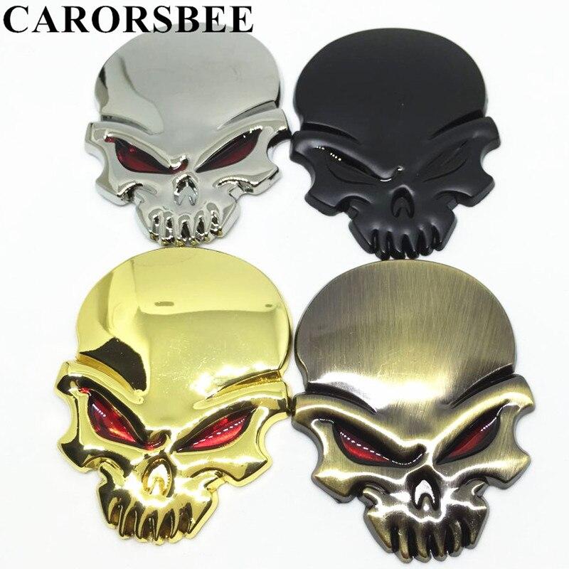 Carorsbee Новый 3D цинковый сплав металлов череп эмблемы автомобиля стикер автомобиль-Стайлинг Интимные аксессуары Автомобили мотоцикла Мотокр... ...