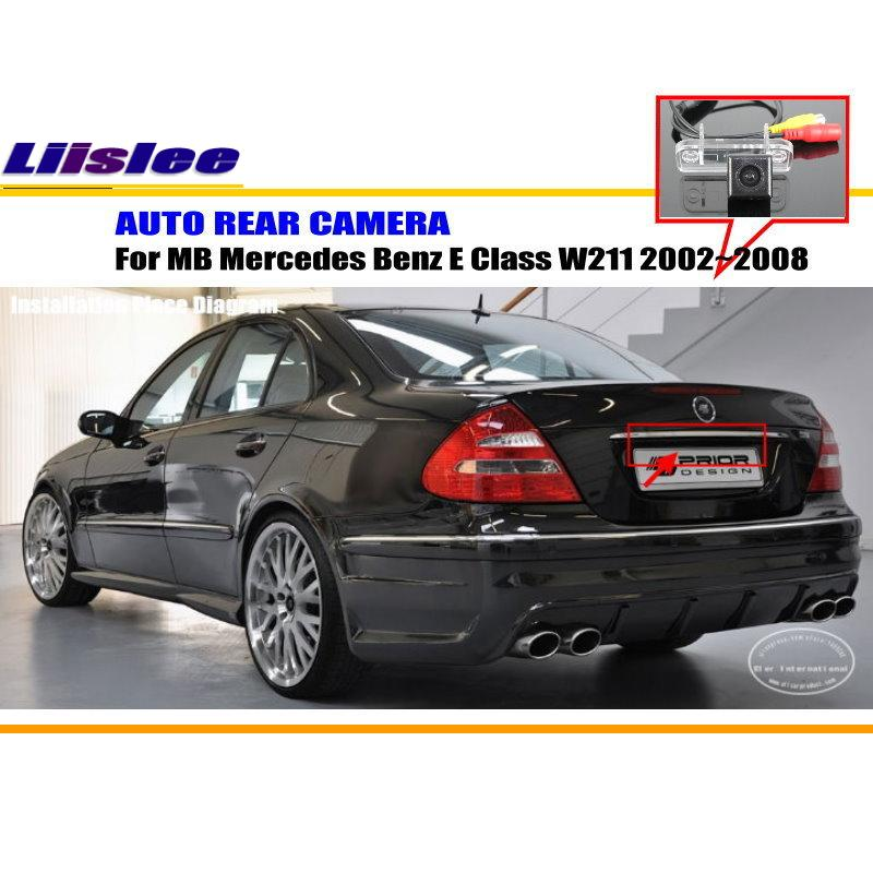 Liislee Car Camera For Mercedes Benz E Class W211 2002~2008 / Rear View Camera / HD CCD RCA NTST PAL / License Plate Light CAM