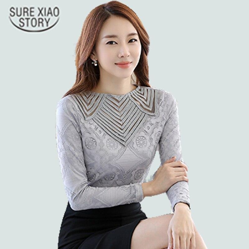 2016 Mode Elegante Spitze Hemd Blusa Frauen Spitze Sexy Aushöhlen Chiffon-blusen Tops Shirts 349j 25 Noch Nicht VulgäR