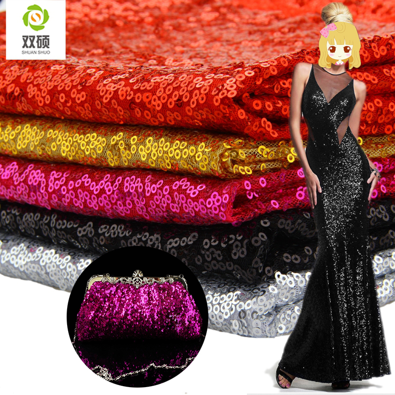 3mm Sequins Fabric Fashion Beads Materials For Stage Dress Wedding Dress Pillow Fabric A Half Meter LP001