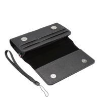 Horizontal Man Strap Belt Clip Dual Mobile Phone Leather Case Card Pouch For Nokia Microsoft Lumia