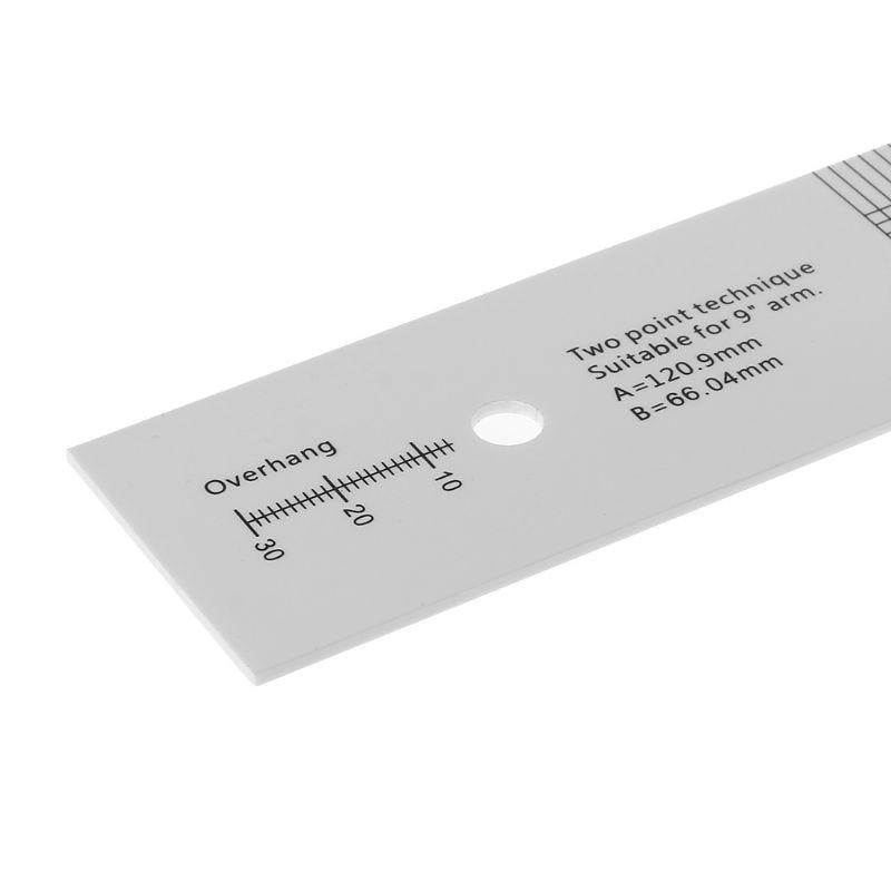 Pickup Calibration Distance Gauge Protractor Turntable Phonograph Phono Cartridge Stylus Alignment Adjustment Tool