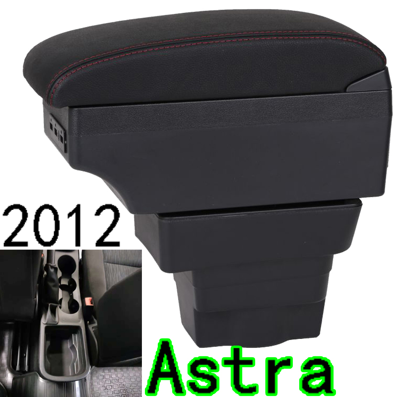 For Opel Astra Armrest Box Opel Astra J Universal Car Central Armrest Storage Box modification accessories
