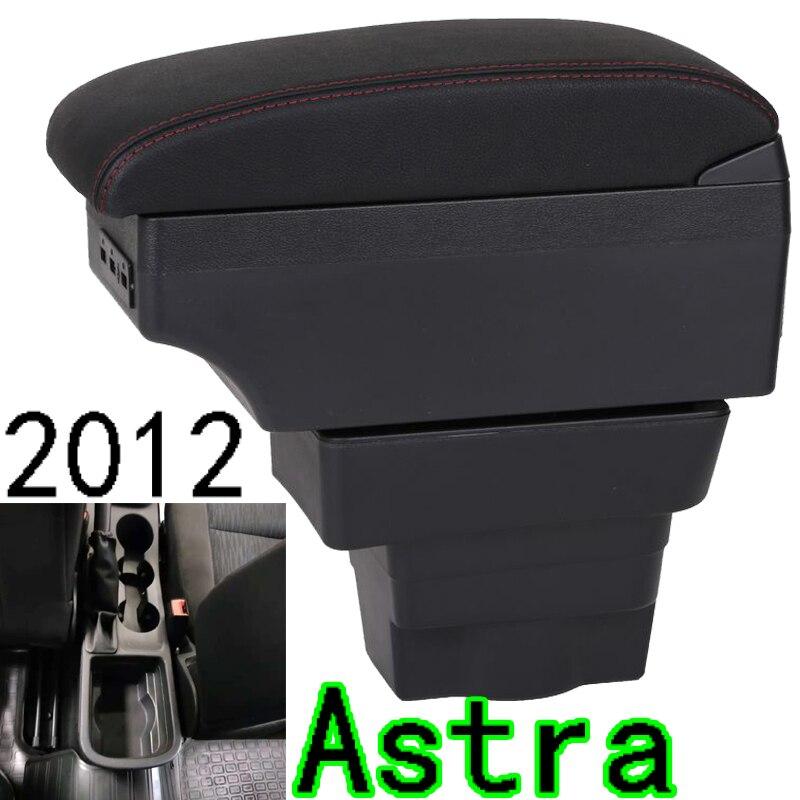Para Opel Astra reposabrazos caja Opel Astra J Universal Almacenamiento de reposabrazos central para coche caja de accesorios de modificación