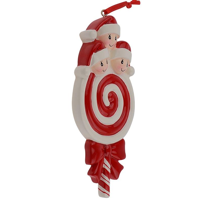 Lollipop Familia de 3 Resina Bebé Brillante Adornos para Árboles de - Para fiestas y celebraciones - foto 4