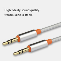 1 м позолоченный штекер 3,5 мм Aux кабель 3,5 ММ мужчинами оплетка 3,5 Джек аудио кабель для автомобиль наушники iPhone MP3/MP4 Aux шнур