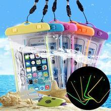 Открытый водонепроницаемый чехол плавательный пляж сухой мешок чехол держатель для сотового телефона