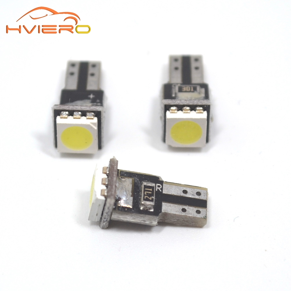 20Pcs T5 5050 1SMD Wedge Dashboard Led White Canbus Car Auto Gauge Light Interior Dashboard Bulb Vehicle Side Lamps DC 12V 10pcs led car interior bulb canbus error free t10 white 5730 8smd led 12v car side wedge light white lamp auto bulb car styling