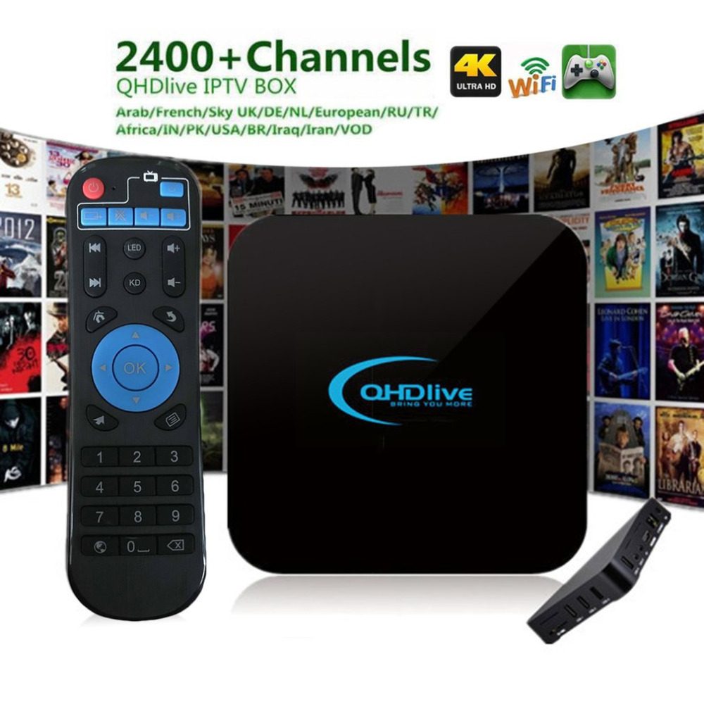 8G TV Box Smart Coding 2400 Live Channel H IPTV 1G TV Box Set-Top Box for Android OS 6.0 EU Plug Professional Edition