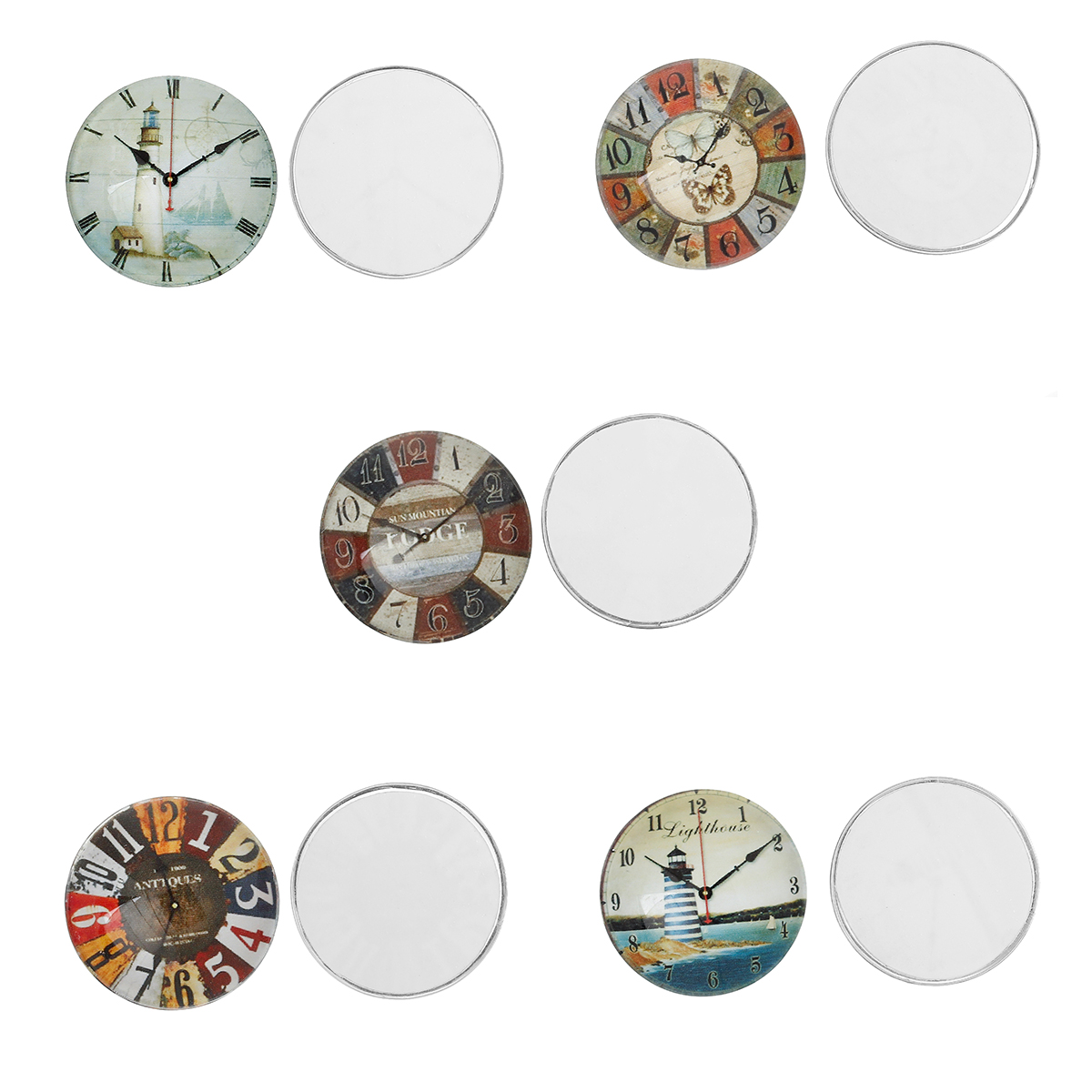 8SEASONS Glass Dome Cabochon Round Flatback Mixed Color Pattern 25mm(1)  Dia 05fc9a3baccaa