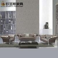 Lorenzo neue klassischen fünf sterne hotel villa ledersofa guangzhou, burgund ledersofa, luxus leder sofa, OCS-F16R