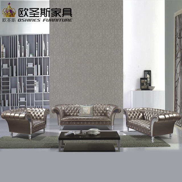 Lorenzo New Clic Five Stars Hotel Villa Leather Sofa Guangzhou Burgundy Luxury
