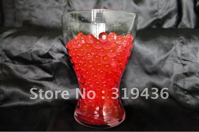 Fashional Vase Filler Decoration Using Red Water Crystal Ball