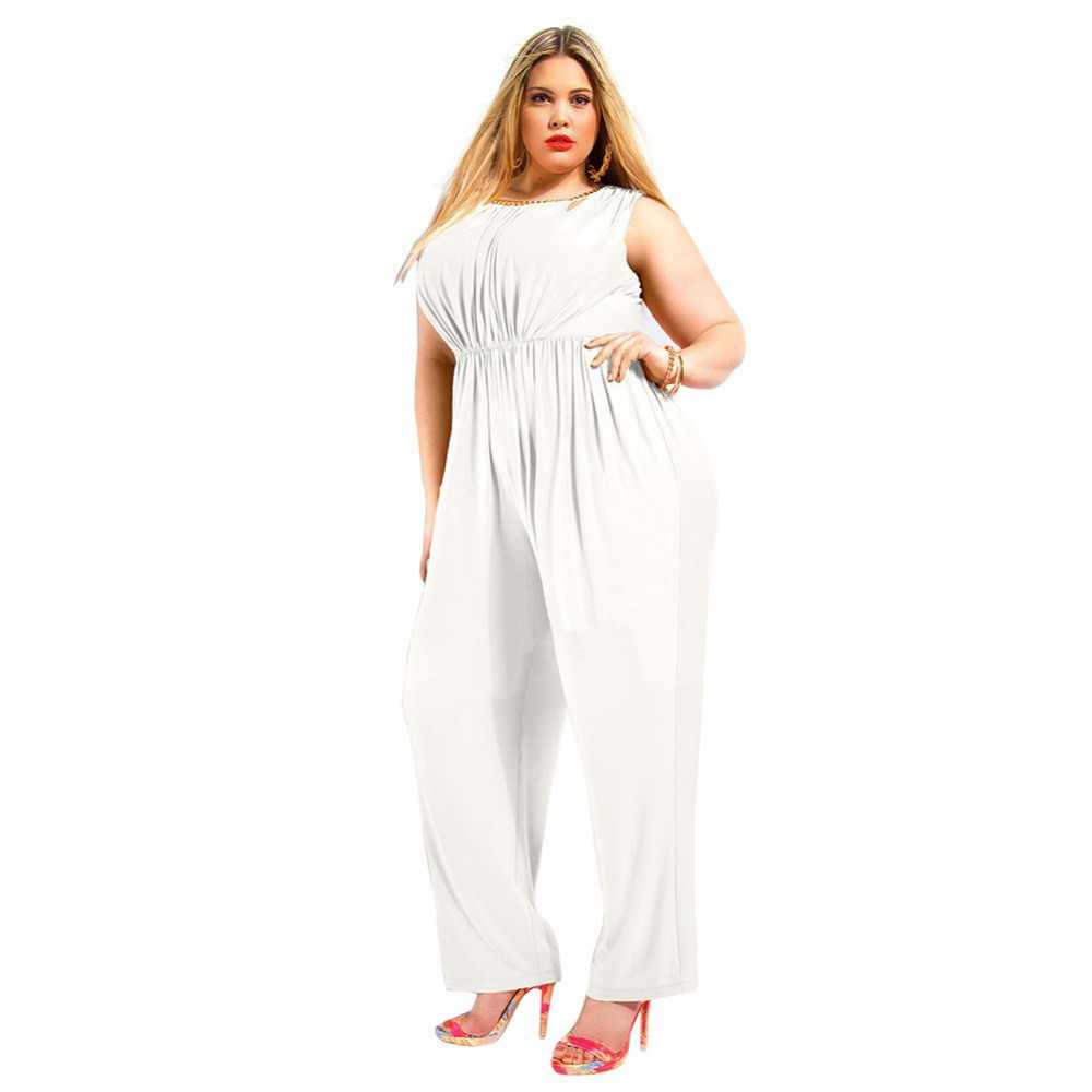 bf112070313 ... 2016 Hot New Brand Summer Plus Size Maxi 5XL Overalls Women Rompers  Jumpsuit Overalls Sexy Backless ...
