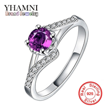 Lose Money Big Sale Original Solid Silver Crystal Ring Fashion 5A Zircon Brand Wedding Engagement 925 Silver Rings Jewelry A029