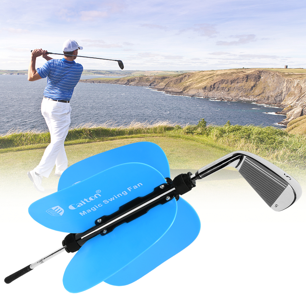 Golf Training Swing Power Fan Golf Equipment Training Aid Warm-up Resistance Trainer Swing Stick Stainless Practice Guide Power