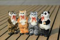 новый пение танцы кошка аккумулятор игрушки плюшевые моделирования кошка игрушка электрический музыкальный рождения рождественский подарок для детей