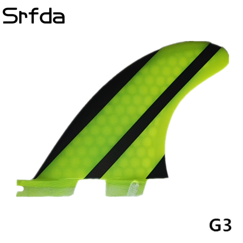 srfda High quality FCS II fins G3 surf fin with fiberglass honey comb material for surfing