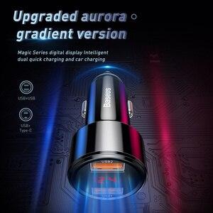 Image 2 - Автомобильное зарядное устройство Baseus, 45 Вт, быстрая зарядка 4,0, 3,0, USB, для iPhone, Xiaomi mi, Huawei, QC4.0, QC3.0, QC, PD, 6A, быстрая зарядка, автомобильное зарядное устройство для телефона