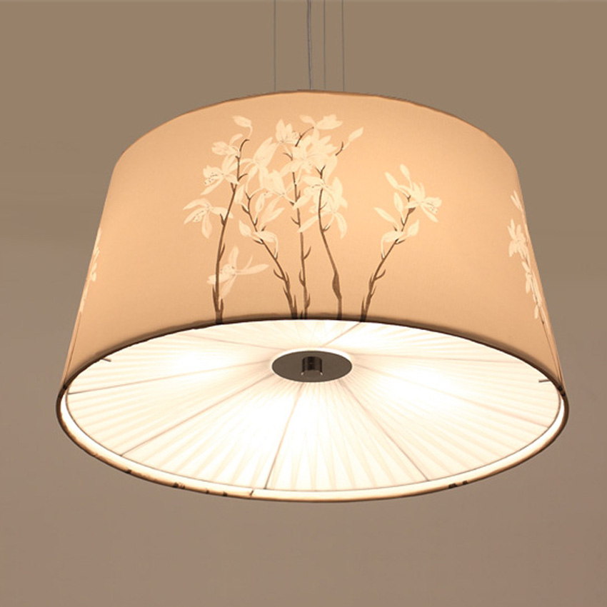 Us 130 64 8 Off Modem Pendant Lamp Dining Room Fabric Kicthen Cloth Shade Light Bedroom Suspension Hanging Lighting Bar In