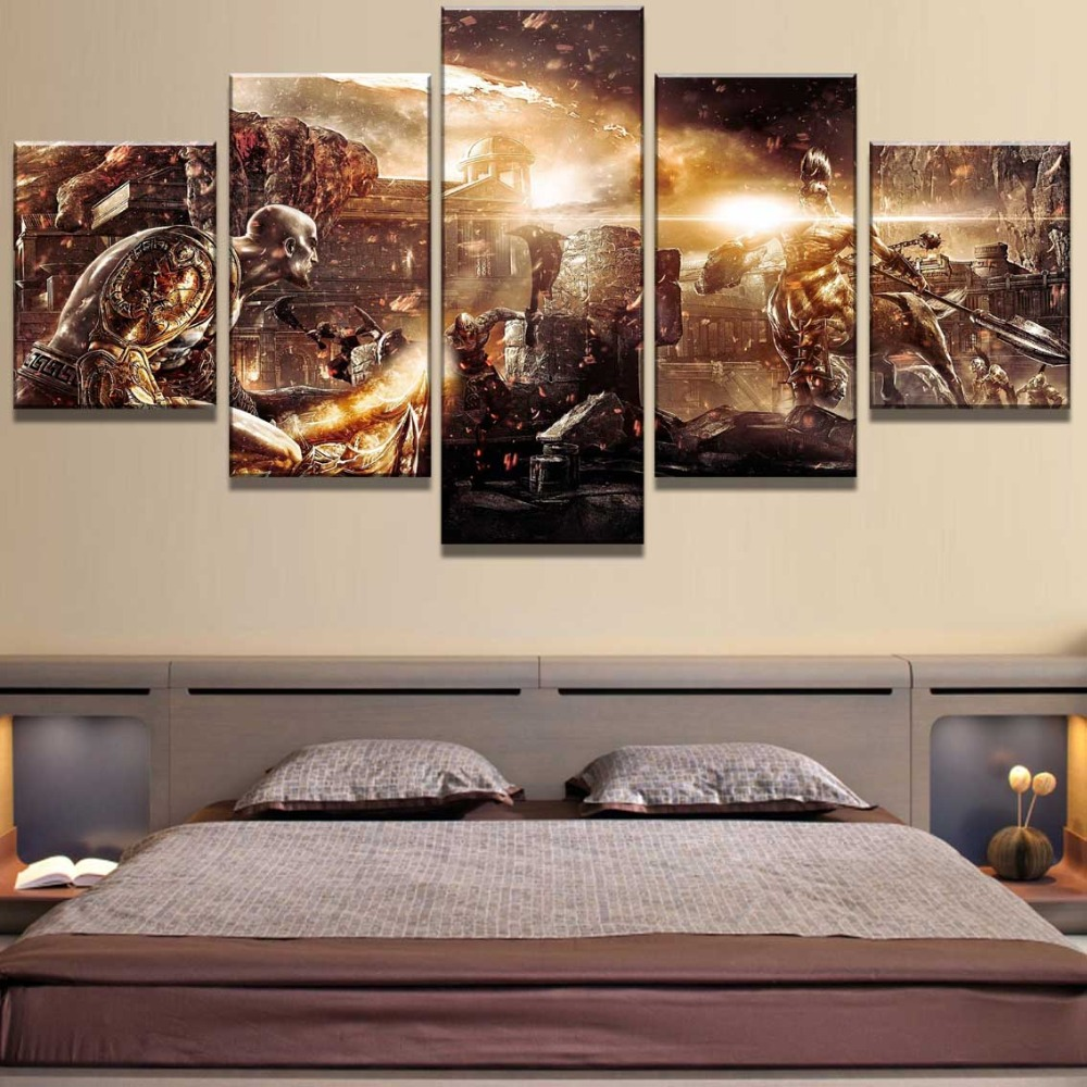 New 5 Piece Canvas Art God Of War Game Modern Decorative Paintings on Canvas Wall Art for Home Decorations Wall Decor Artwork